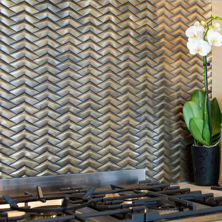 Brass Chevron Mosaic