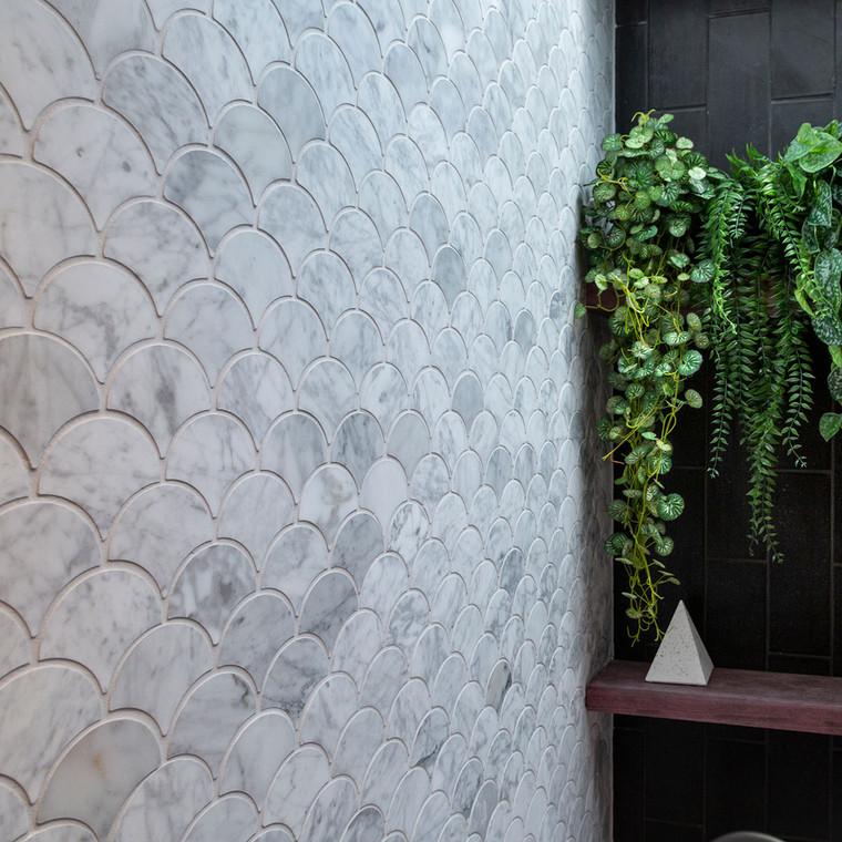 Carrara Fishscale Mosaic