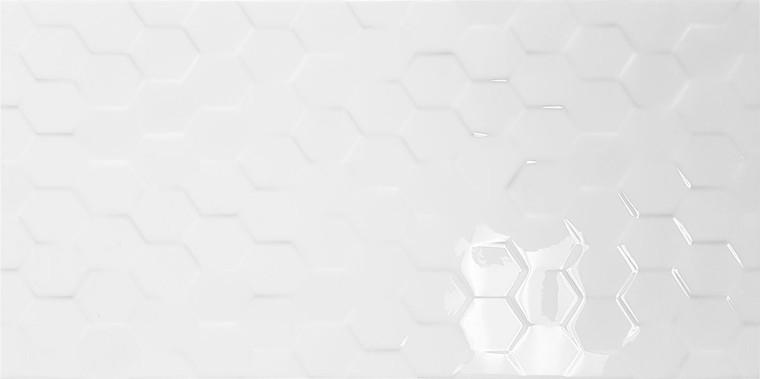 Novo White Hex Gloss30x60
