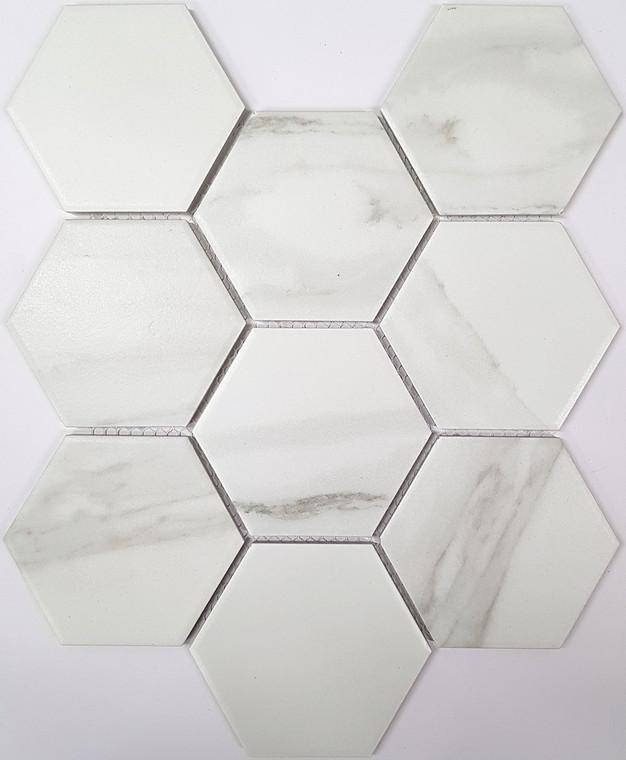 Carrara Porc Hex Matt - 110mm