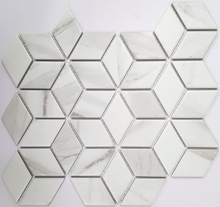 Carrara Porc Cube Matt 48x48mm