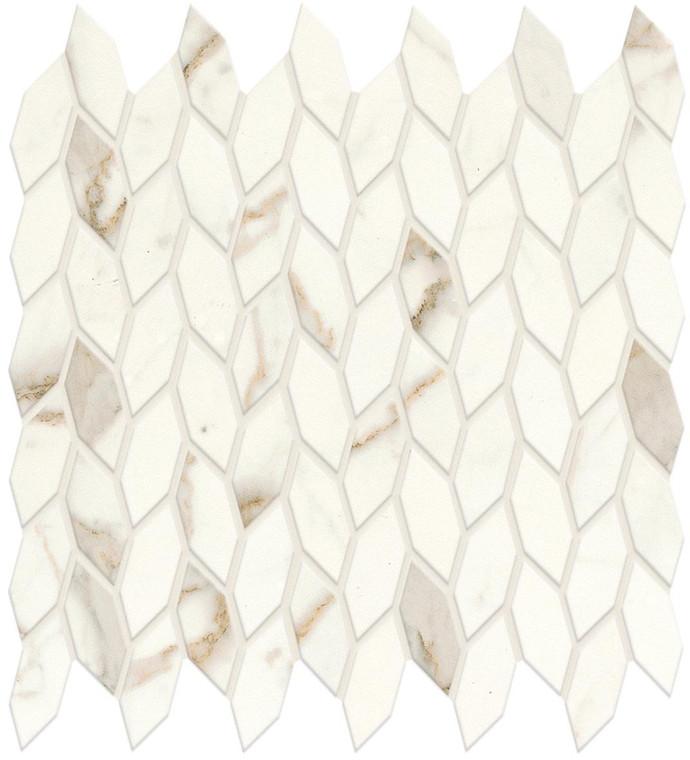 Marvel Shine Calacatta Prestig Twist Mosaic Satin Marble Finish