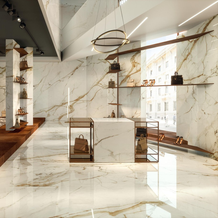 Marvel Shine Calacatta Imperial Polished Marble Finish 60x120