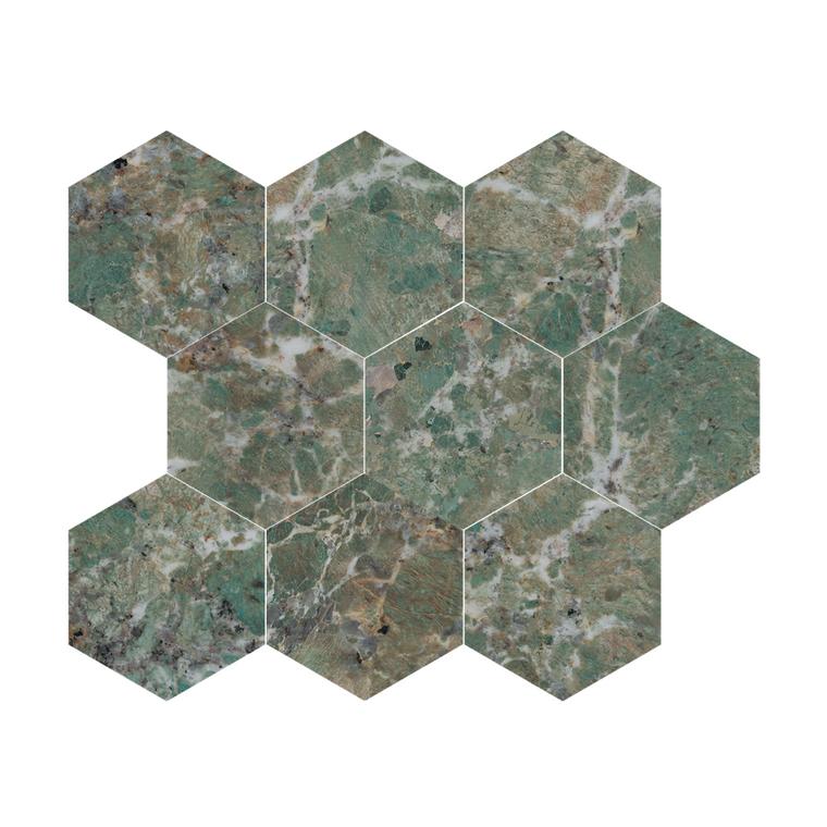 Amazzonite Hex Mosaic