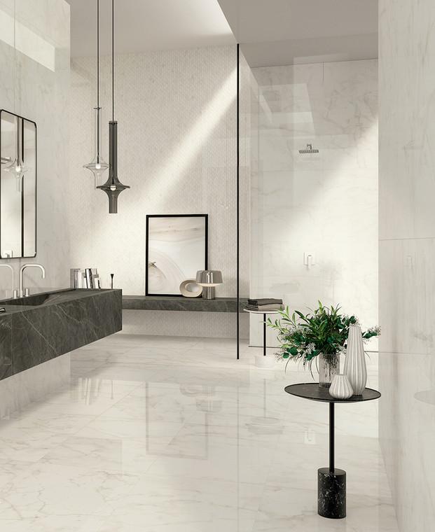 Marvel Shine Calacatta Delicato Polished Marble Finish 60x120
