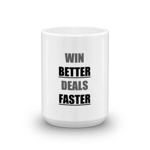 WinBetterDealsFaster - bw Mug