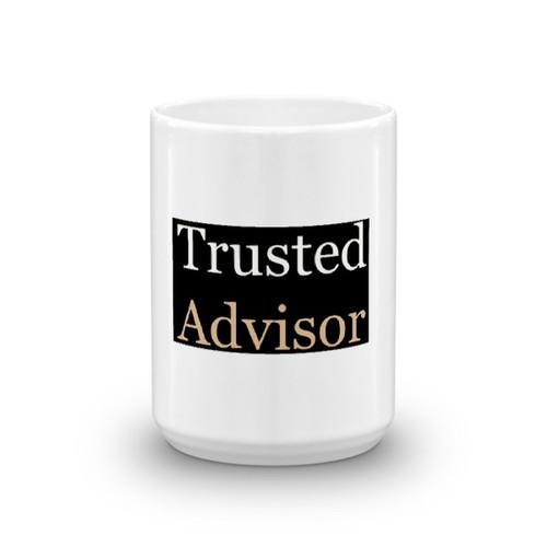 Trusted Advisor (black background) Mug
