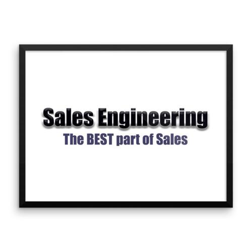 Sales Engineering Framed poster