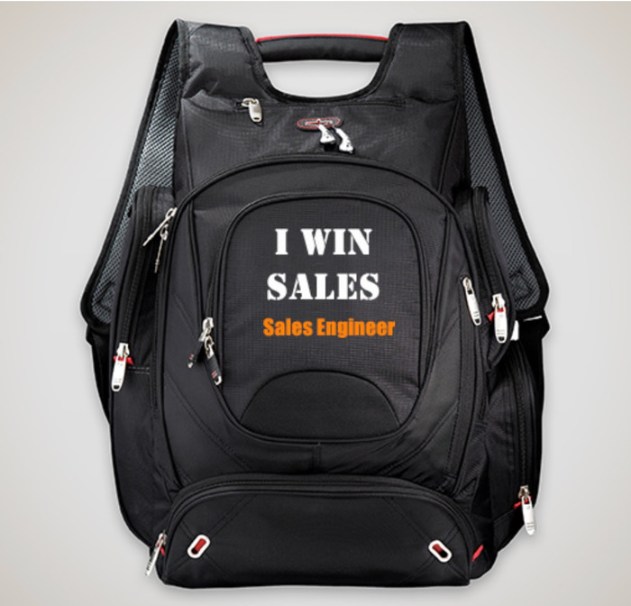 "I WIN SALES - elleven™ TSA 17"" Computer Backpack for Sales Engineers"