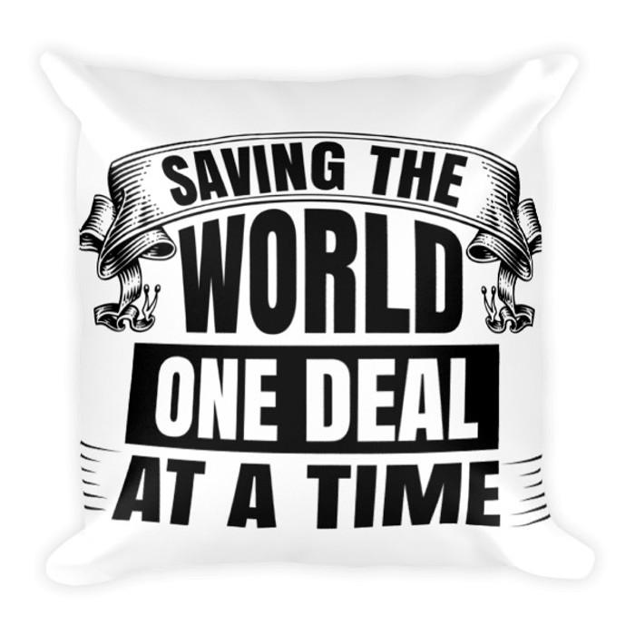 Saving the World - Square Pillow
