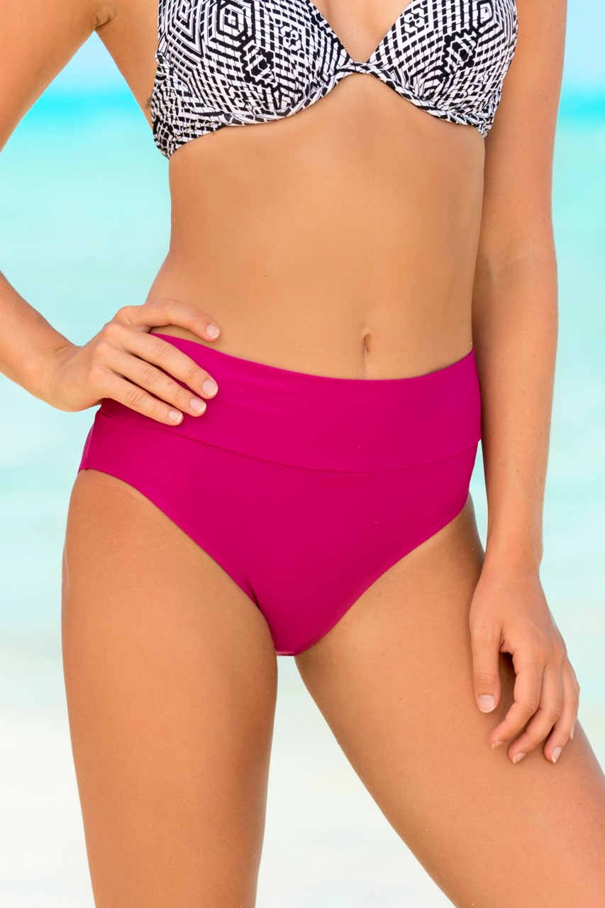 7dbaeec0b5 Pink High Waisted Swim Bottoms   Swimwear