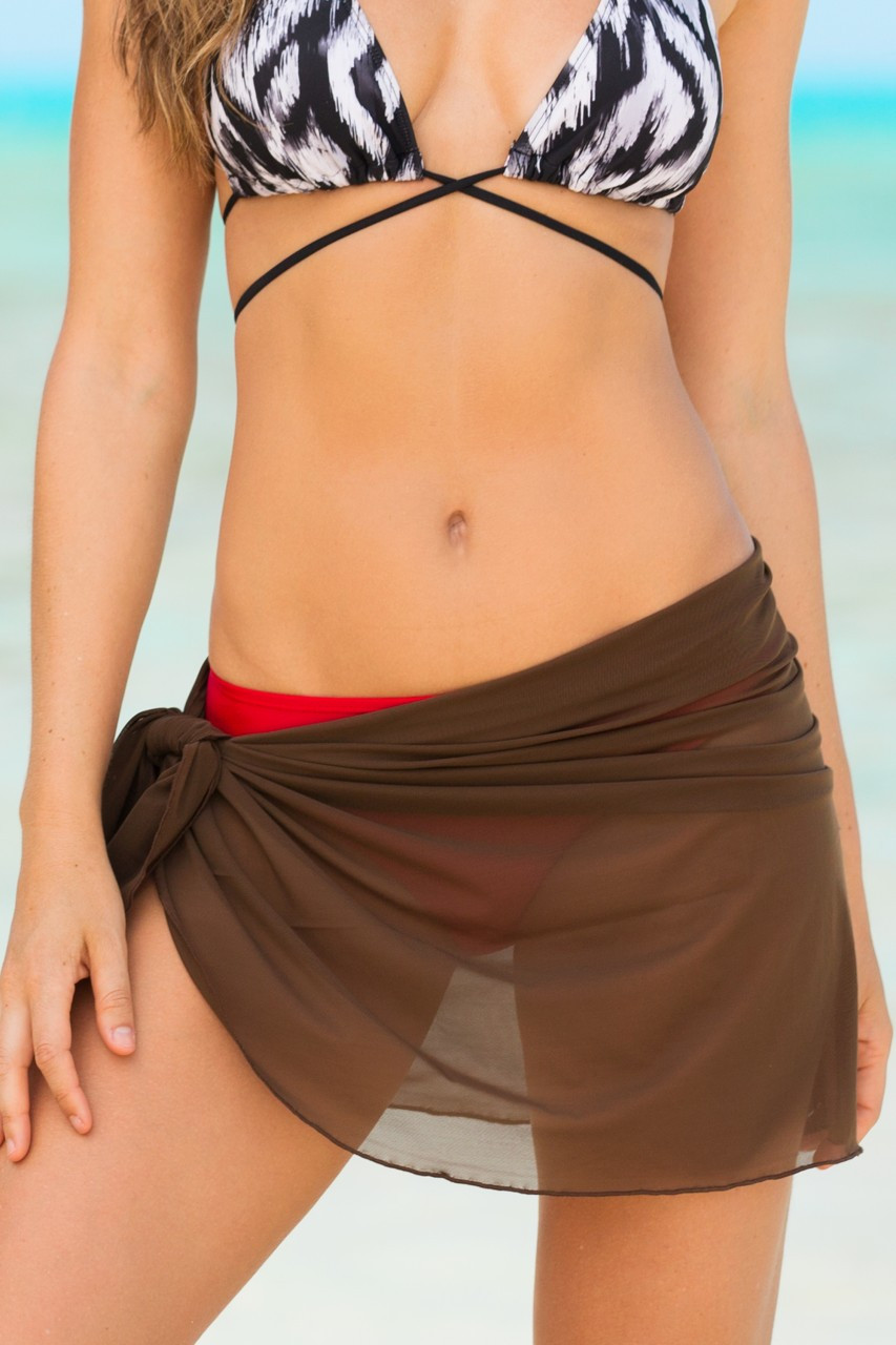 Hapari Brown Sarong Wrap