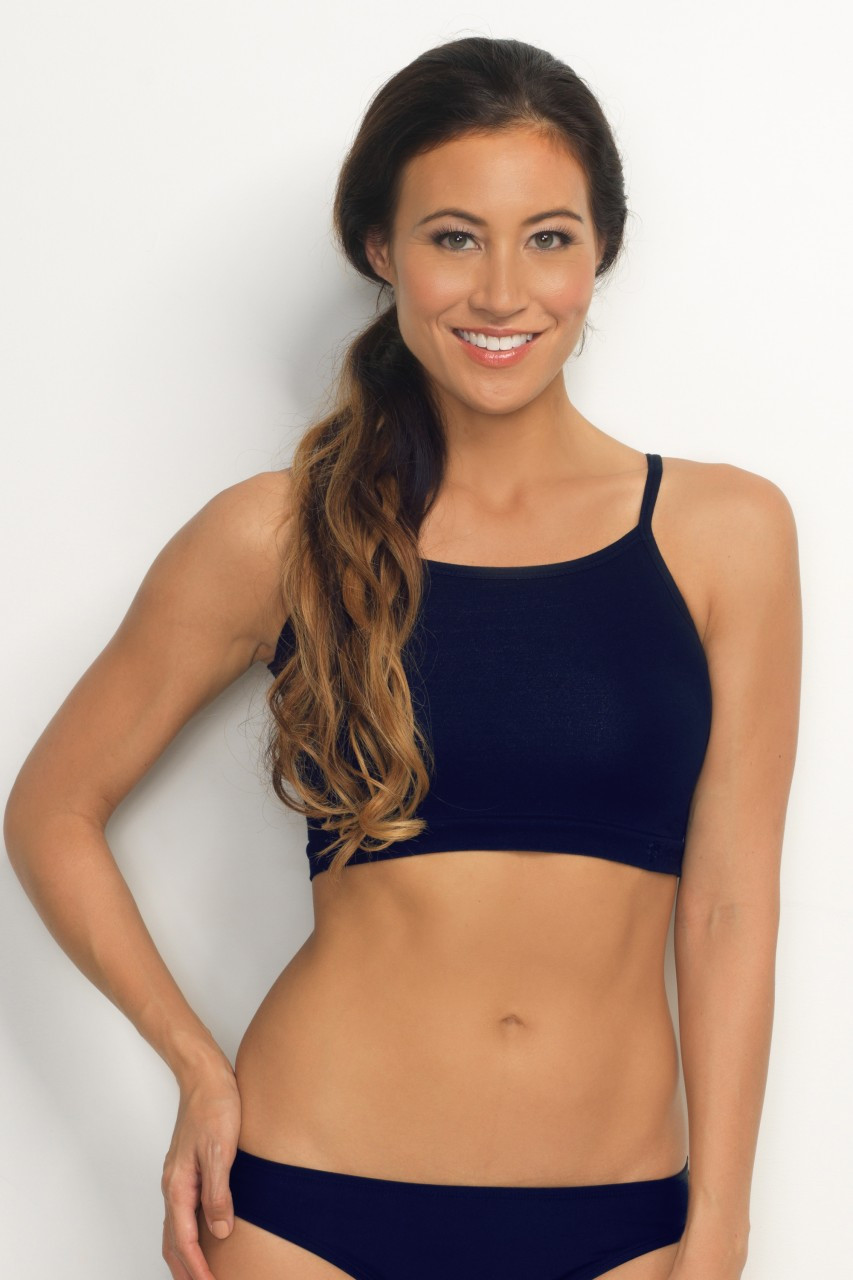 Hapari Navy Crop Tank Top