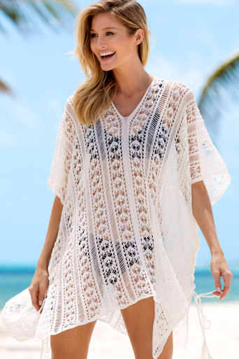 Crochet Cover Up Black Beach Accessories Hapari