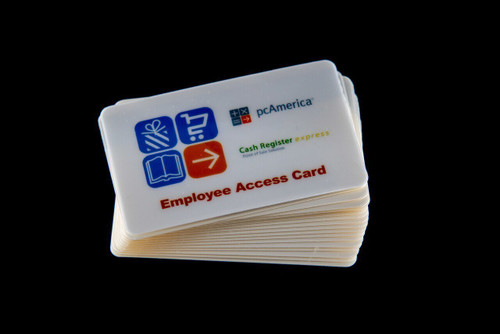 pcAmerica Employee Access Magnetic Swipe Cards (5 Pack) High Quality - NEW