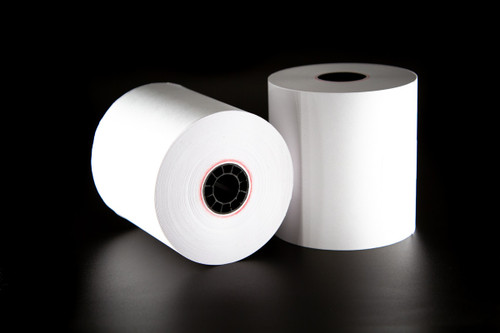 1 Ply Bond Receipt Paper Rolls 3″ x 165′ - (Box of 10 Rolls)