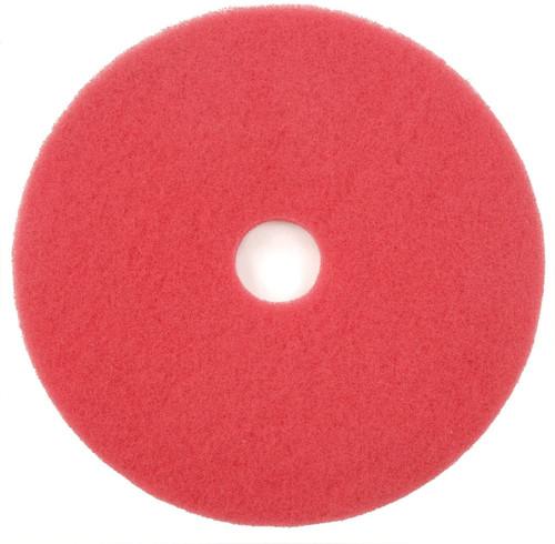 "404420 - 20"" RED SPRAY BUFF FLOOR PAD 5/CS"