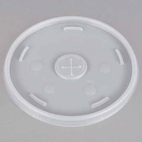 Dart 32SL Translucent Lid with Straw Slot - 500/Case