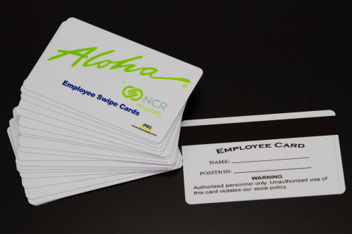 Aloha POS - Magnetic Swipe Employee ID Cards  (10 Pack) - NEW