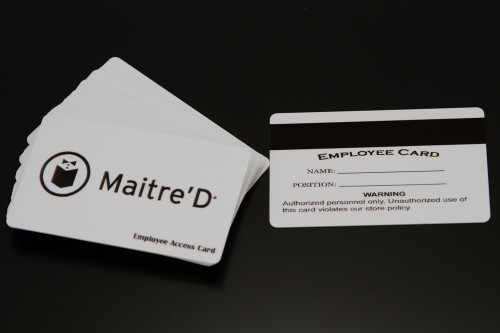 MaitreD POS - Magnetic Swipe Employee ID Cards  (10 Pack) - NEW