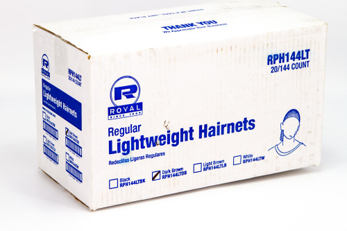 Royal Regular Lightweight Hairnets Black RPH144LT (144 Count)