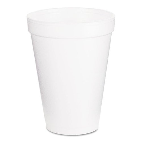 Dart 12J16 Foam Drink Cups, 12oz, White, 300/Carton
