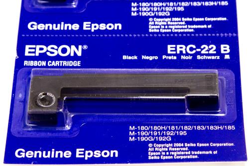 E65103 ERC-22B Black Fabric Ribbon Cartridge iPOS SUPPLY