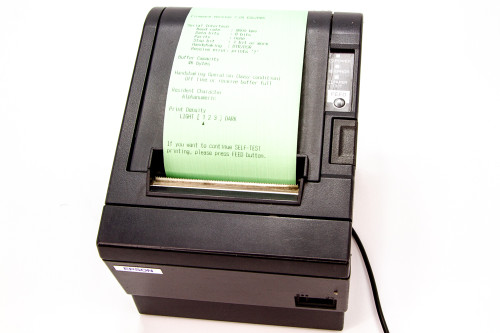 EPSON TM-T88III Thermal Receipt Printer With Serial Interfaces & Power Supply M129C IPOS SUPPLY