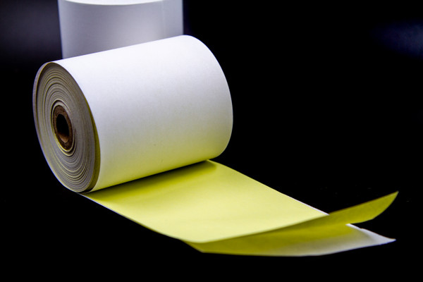 Restaurants N us 2-Ply Carbonless Receipt Paper Rolls White / Canary