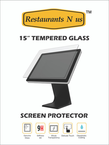 """15"""" Glass Screen protector for Touch Dynamic"""