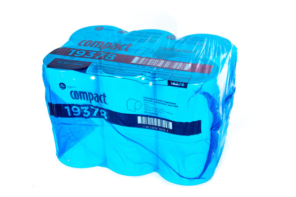 Toilet Tissue Compact® White 2-Ply Standard Size Coreless Roll 1500 Sheets