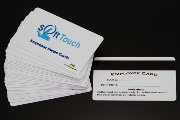 SoftTouch POS - Magnetic Swipe Employee ID Cards  (10 Pack) - NEW