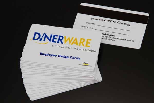 DinerWare POS - Magnetic Swipe Employee ID Cards  (10 Pack) - NEW