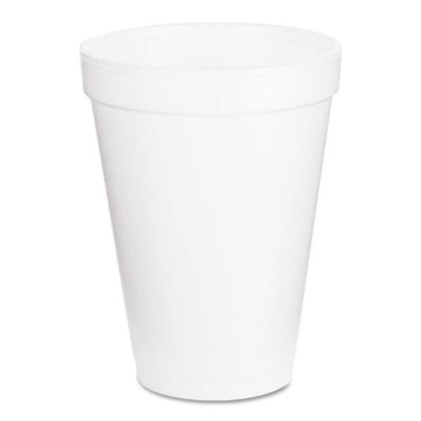 Dart 12J16 Foam Drink Cups, 12oz, White, 300/Carton