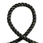 """1.5"""" Battle Rope Poly Dacron Fitness Training Exercise Workout Home Gym Outdoor Cardio Workout Black 50ft"""