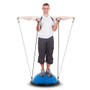 """21"""" Balance Trainer Stability Ball Pilates Resistance Bands Blue"""