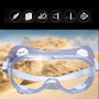 Work Shop Style Protective Eye Glasses Fully Enclosed Anti Fog Wide Clear Vision