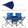 Chair Double Folding Removable Shade Umbrella Cooler Ice Chest Cup Holders
