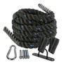 1.5″ Battle Rope Poly Dacron Fitness Wall Mount Anchor Workout Training Cardio BLUE 40ft