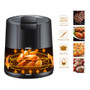 Air Fryer 5.5L (5.8qt) Family Electric Multi Mode Timer Adjustable Heat Healthy Cooking LCD Touch 1500W BLK