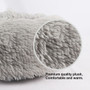 Pet Bed Plush Comfy Calming Self Warming Washable Cat Dog Fluffy Dream Cloud Gray Large