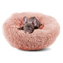 Pet Bed Plush Comfy Calming Self Warming Washable Cat Dog Fluffy Dream Cloud Pink Small
