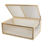 Greenhouse Mini Nursery Vented Garden Planter Plant Cover Wood Top Opening Door Cold Frame 39X25X15