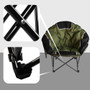 Moon Chair Folding Cup Holder Carry Bag Portable Outdoor Wide Comfortable Green