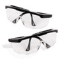 BIGTREE 2 Pack Anti-fog Protective Eye wear Safety Goggles Glasses Adjustable Wide Vision Clear