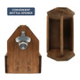 6-Pack Wooden Rustic Bottle Caddy with Bottle Opener