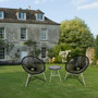 Rattan Wicker Style Outdoor Chair Matching Table Lightweight Durable Set Black