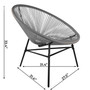 Rattan Wicker Style Outdoor Chair Matching Table Lightweight Durable Set Gray