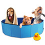 """63"""" Foldable Dog Outdoor Swimming Pool"""