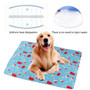 Dog Self Cool Mat Summer Cooling Kennel Crate Comfort Pad Blue Large